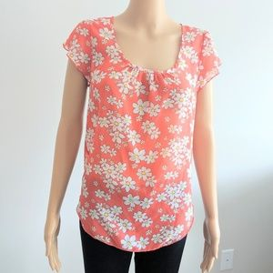 Poetry orange floral crop top size medium